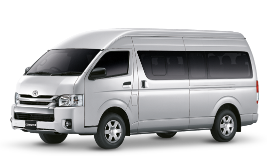 Car Rental with Personal Driver (Toyota Commuter)