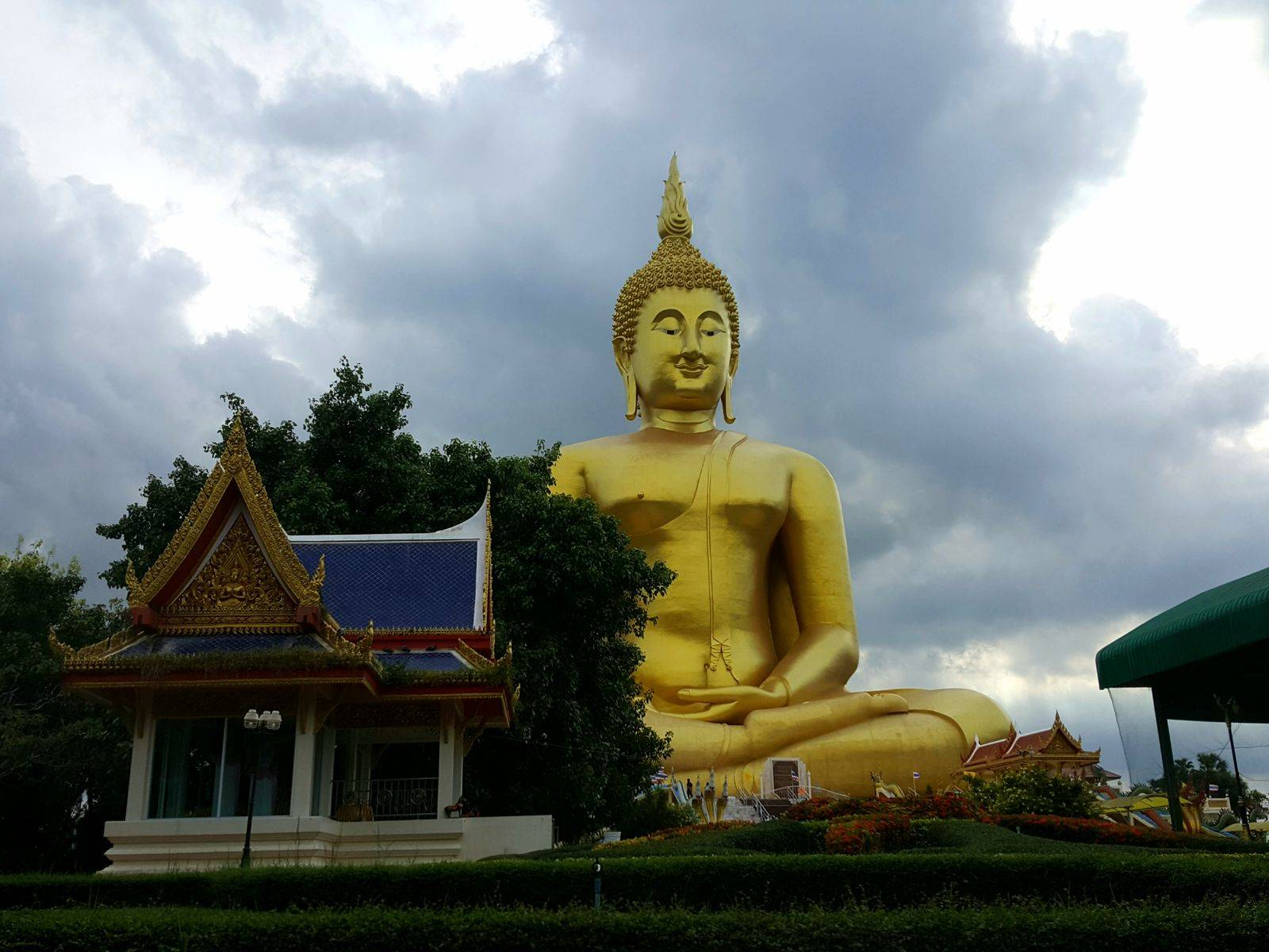 Biggest Buddha and House of steel models.