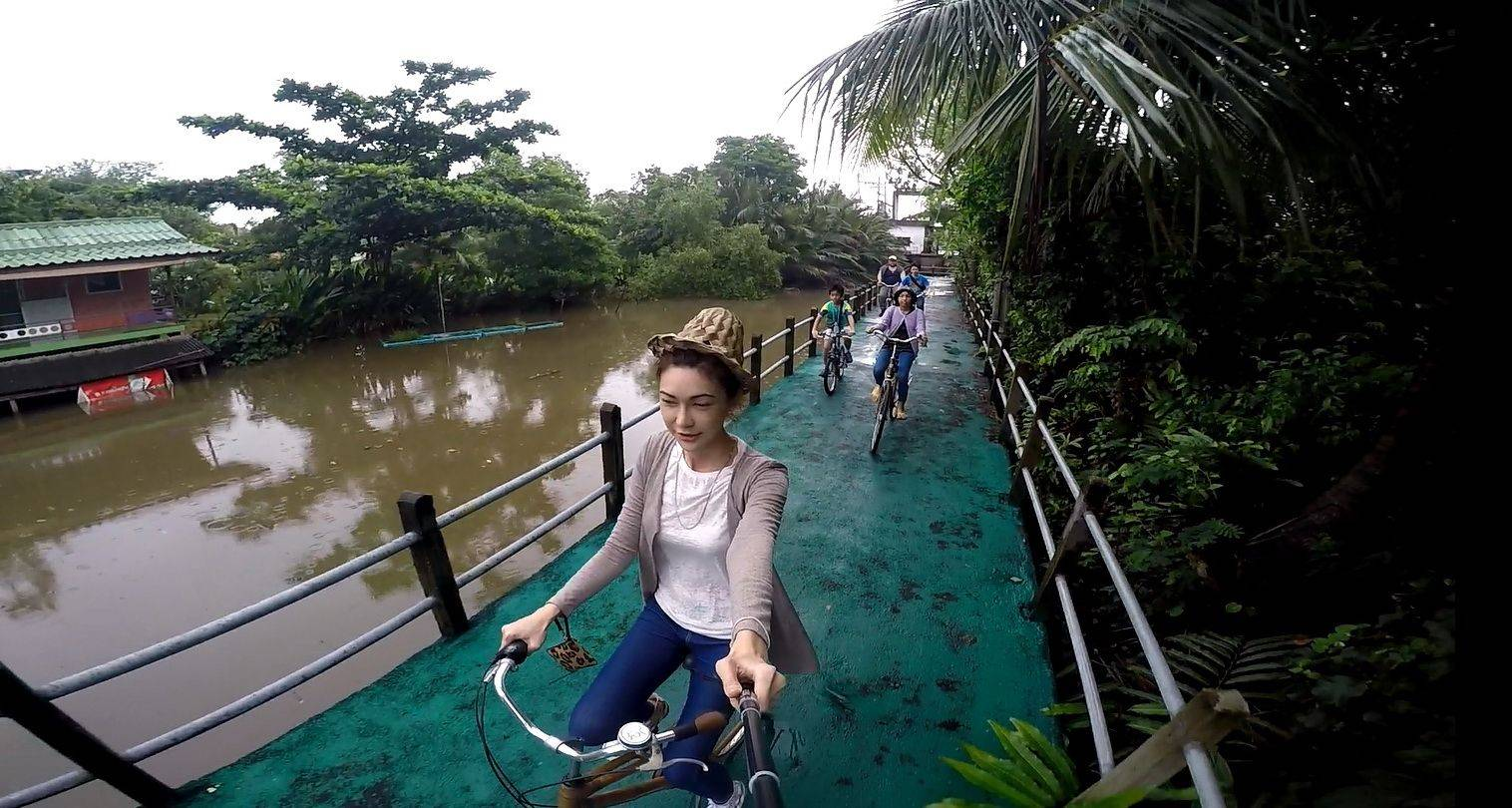 Bamboo Bike Bangkok Jungle Oasis - Unique Bang Kra Choa (Bang Kra Jao) bicycle trip. (Sat, Sun and Thai holiday)