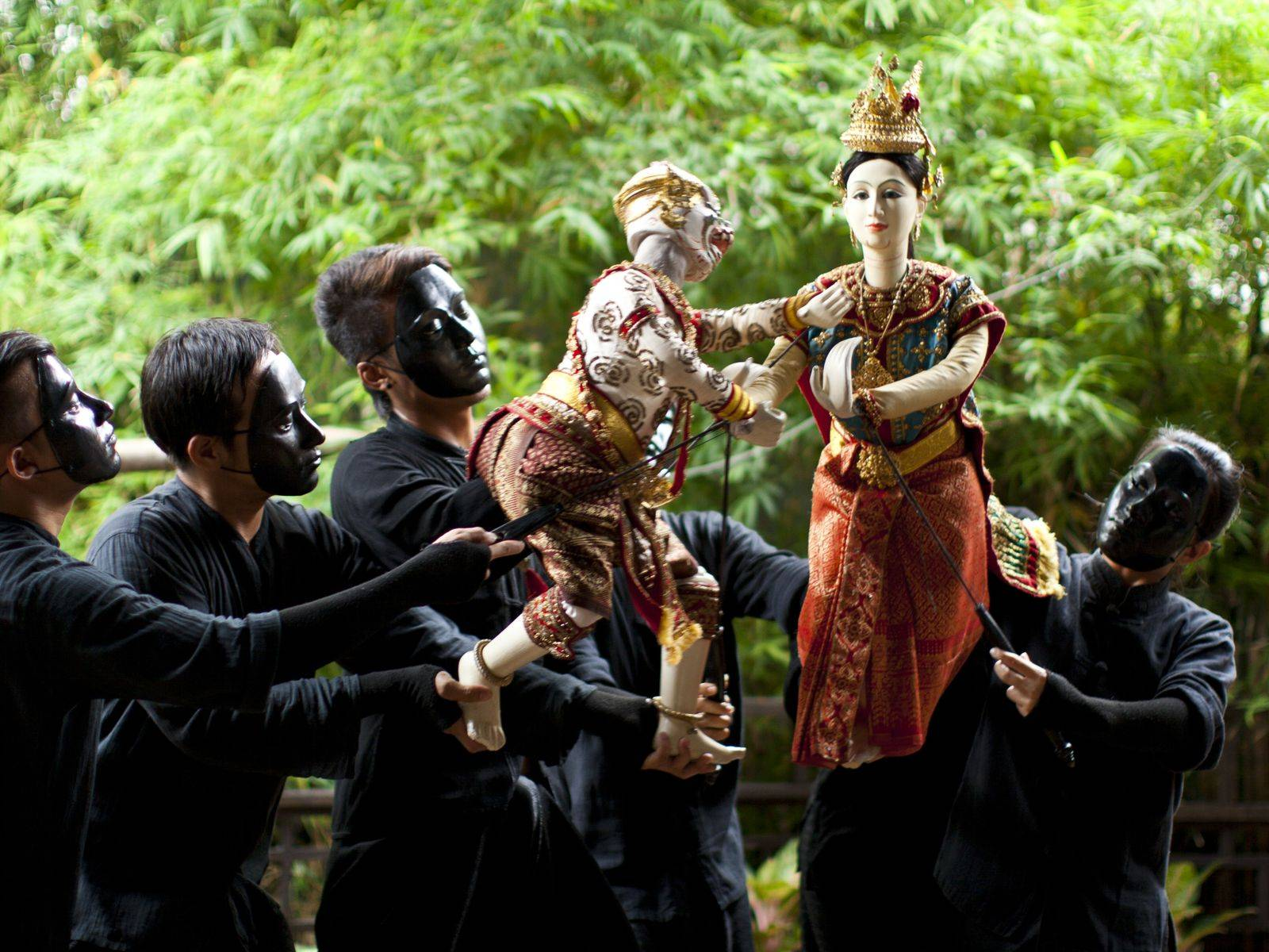 Thai Puppet Show at The Artist's House by The Canal