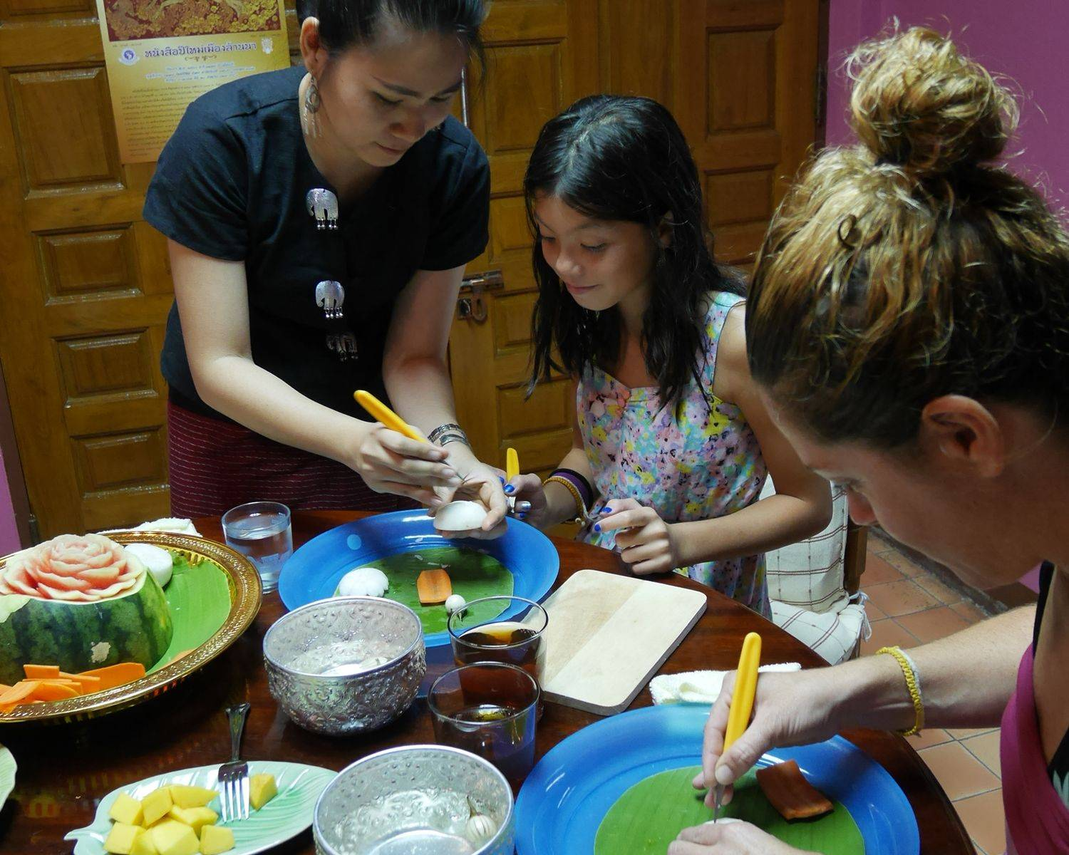 Private 3-Hour Vegetable and Fruit Carving Class in Chiang Mai (Morning / Afternoon class)