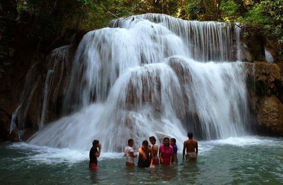 Visit Huay Mae Khamin Waterfall National Park and Relax at My Grandfather's Place Nearby The Dam