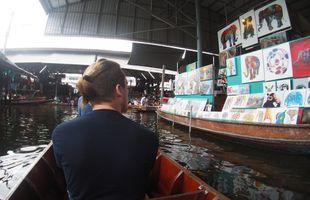 Damnoen Saduak Floating Market, Maeklong Railway Market and Boat Ride to Temple in the Tree!