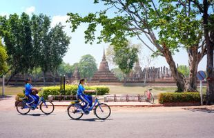 Sukhothai Historical Park Bike Tour & Fun Crafting Workshop