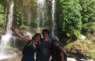 Trekking Full Day Tour to See 5 Waterfalls in Jungle and Bamboo Rafting