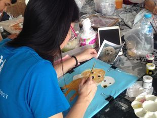 Learning craft work at Knowledge Center in Bangkok