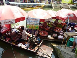 Amphawa Floating & Railway Market Tour