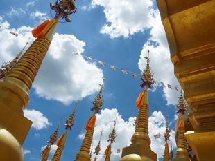 Amazing Saraburi with 500 golden Pagodas