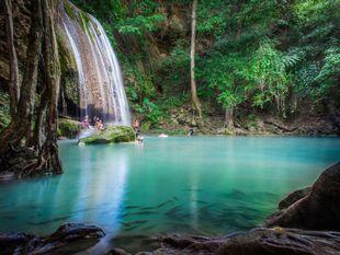 Kanchanaburi: Historical Route with Erawan waterfall