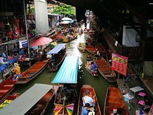 One Day at Damnoen Saduak Floating Market & Maeklong Railway Market