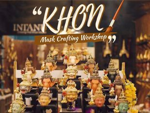 Thai Tradition 'Khon' Mask Crafting Workshop