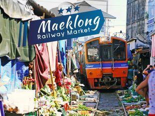 Maeklong Railway and Amphawa Floating Markets(Weekend)