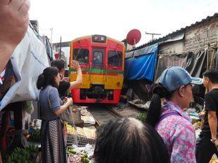 Local Floating Village & Train Market