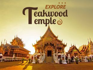 Explore Teakwood Temple & Sticky Waterfall of Chiang Mai