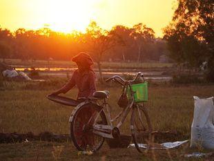 Siem Reap Village Sunset by Bike