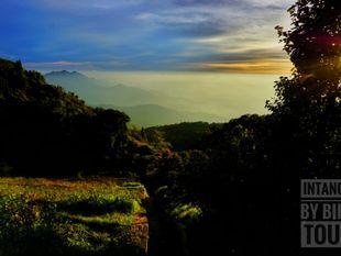 Sunset at the highest mountain of Thailand, Doi Intanon