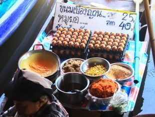 Wat Takian Weekend Floating Market Tour