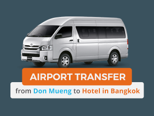 Airport Transfer to Bangkok Hotel in Private Van (DMK/Don Mueng Airport)