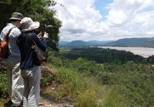 View of Mekong river from Phataem National Park