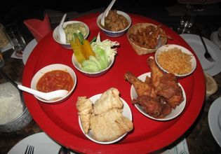 Northern Thai Food served in the Round Table (called Khan Toke)