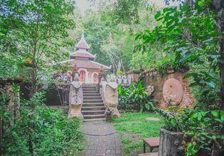ordination hall of At hidden temple Wat palad