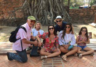 The head of Buddha in Banyan tree