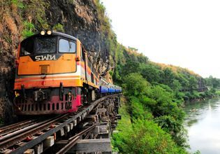 Historical Death Railway in Kanchanaburi province