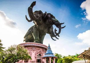 Explore The Giant Three-Headed Elephant - The Ancient City - Bang Pu Seaside