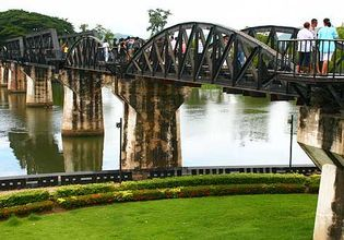 Historical Bridge over the River Kwai and  Erawan Water Fall  ( Day trip from Bangkok)