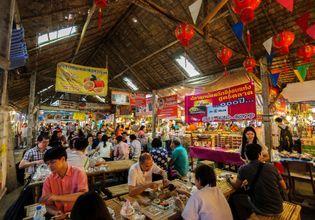 """Real Floating Market """"Khlong Lat Mayom"""""""