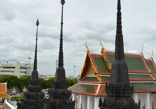 see the historical heart of Bangkok in panorama!