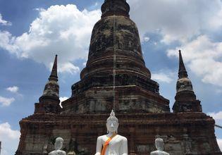 The stupa at Wat Yai Chaimongkol