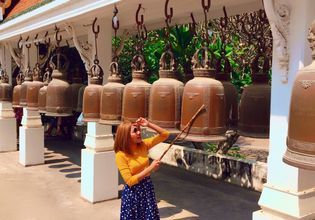 Thai's faith is .... if you hit the bells you will get the positive, far and wide famous