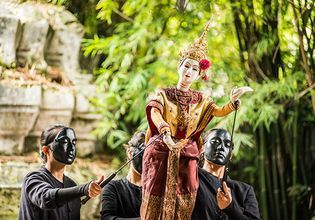 Enjoy the thai puppet show
