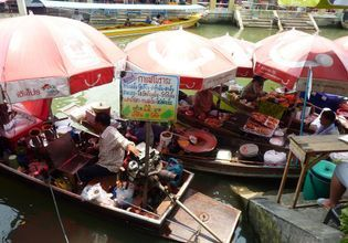 Amphawa floating market and village
