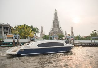 X2 River Cruises with the landmark of Chao Phraya River