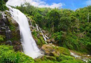 Relax at Wachirathan waterfall.