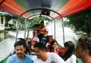 Boat riding along the canal & food tours in a historic site.