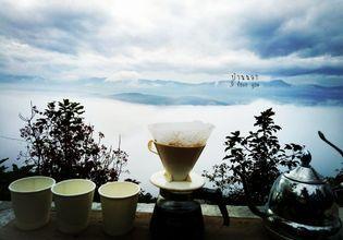 morning coffee in the mountian