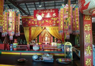 Visiting the House of Goddess Tubtim for cherishing lucky and happiness in life