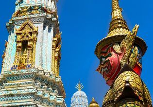 The most popular at Bangkok, visit The temple of the Emerald Buddha, The Grand Palace and nearby Beautiful temple.