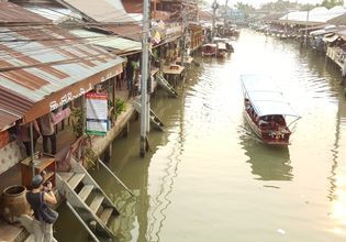Local life style at Amphawa