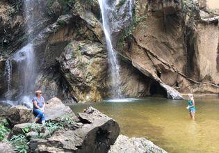 Enjoy freshing at waterfall