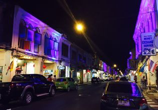 Thalang Rd at Night