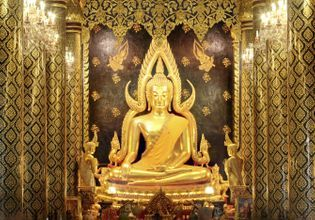 The beautiful Buddha Statue and ancient art.