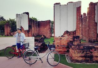 Journey back in Thai ancient Time: Cycling at The Ancient Siam, the most biggest outdoor museum in Thailand!
