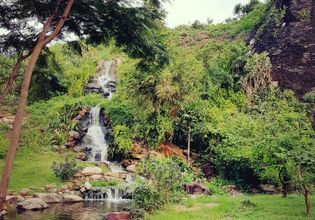 The water fall near Prasat Phra Wihan (Preah Vihear) Si Sa Ket