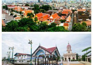 Bangkok's view from Golden Mountain and Santa Cruz Village