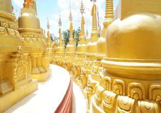 Amazing Saraburi with 500 golden Pagodas
