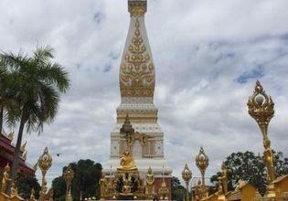 Pagoda of Birthday  in Nakhon Phanom